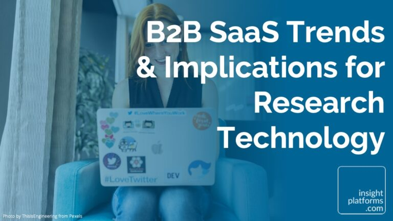 B2B SaaS Trends - Implications for Research Technology - Featured Image